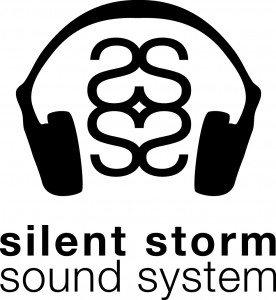 Silent Storm Logo - Black on White
