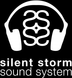 Silent Storm Logo - White on Black