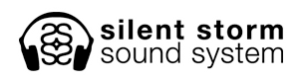 Silent Storm Logo - Horizontal - Black with White Glow
