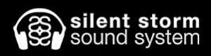 Silent Storm Logo - Horizontal - White with Black Shaddow