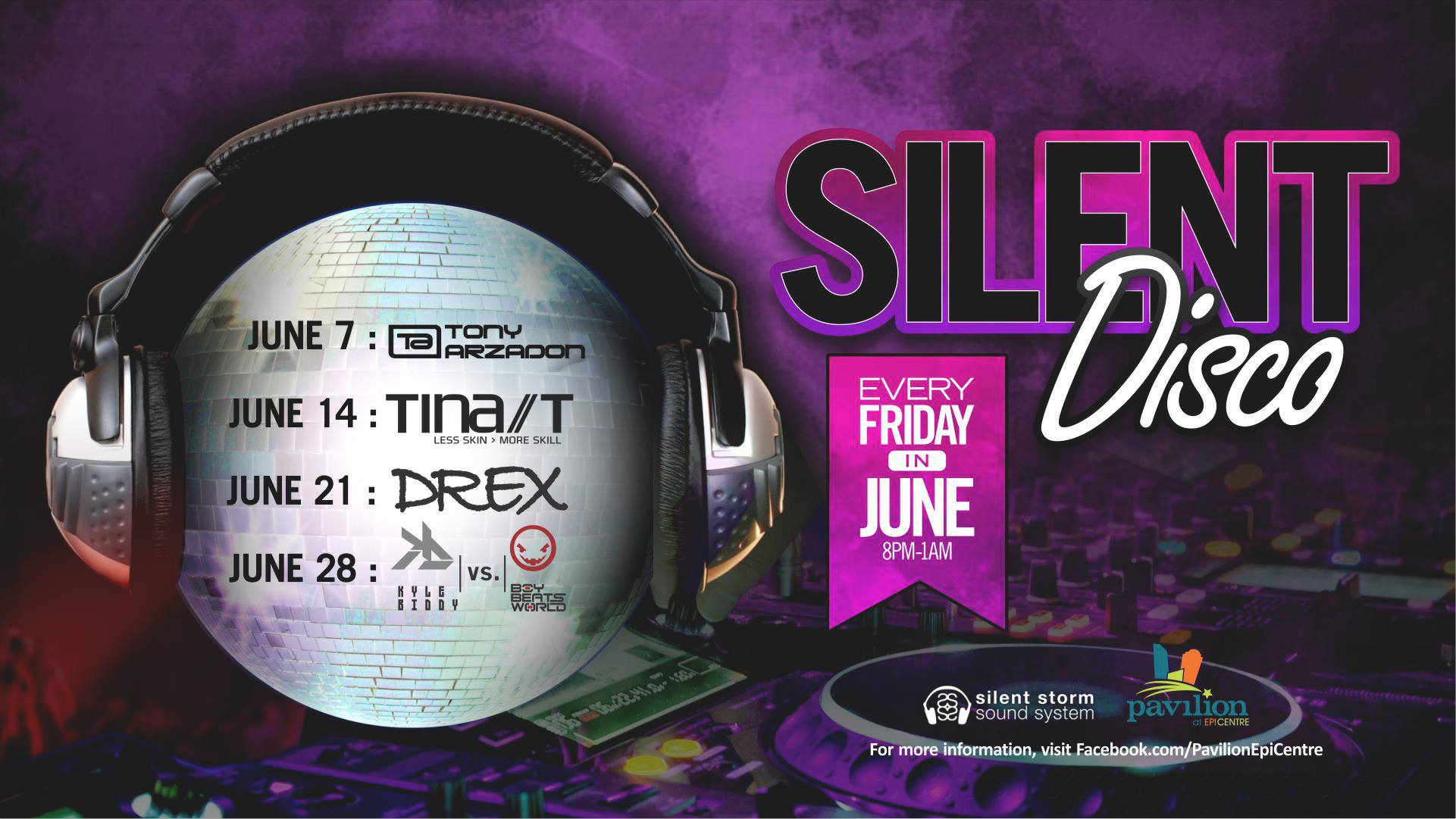 Silent Disco CLT - Every Friday in June